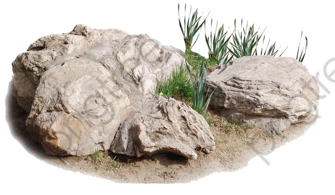 Transparent stones on the. Boulder clipart ground