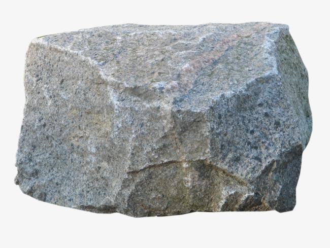 Square rock png image. Boulder clipart hard stone