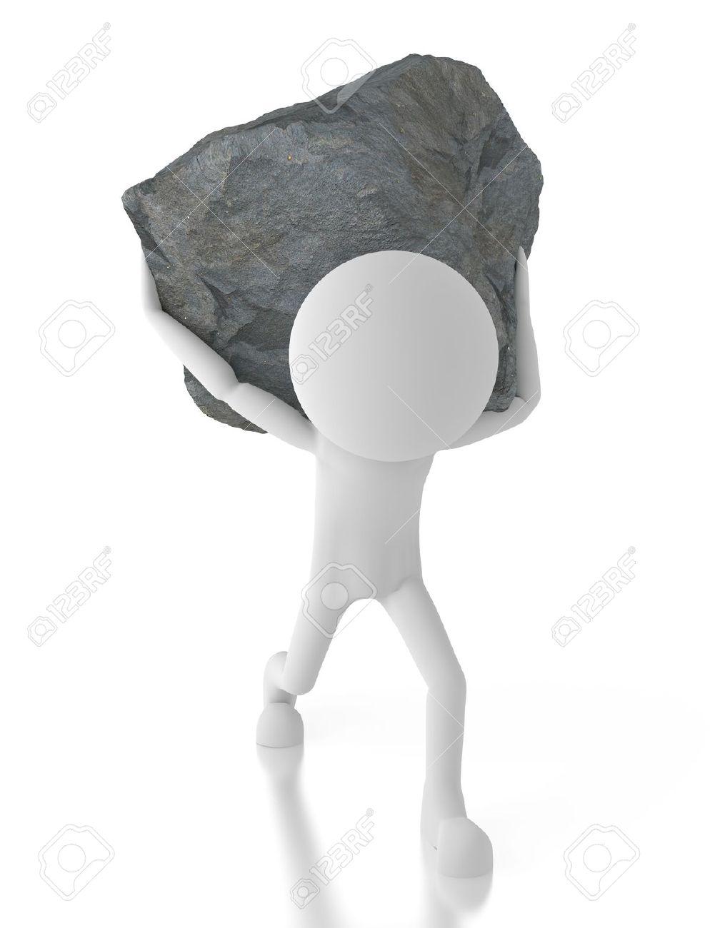 Boulder clipart illustration. Hard rock big free