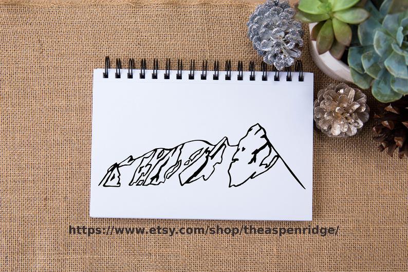 Boulder clipart line. Colorado flatirons clip art