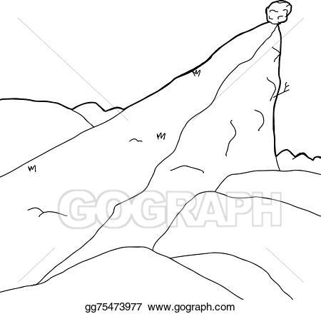 Clip art vector outlined. Boulder clipart line