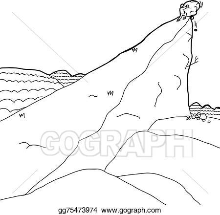 Boulder clipart outline. Vector art man pushing