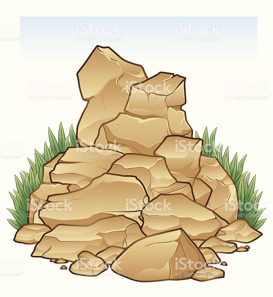 Boulder clipart outline. Rock stone in style