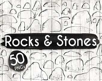 Boulder clipart pebble. Pebbles etsy stones and