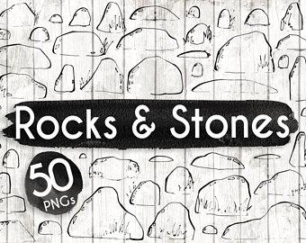 Boulder clipart pebble. Pebbles etsy stones and