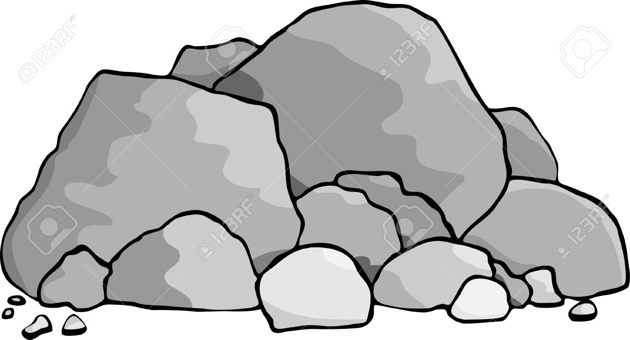 Pile of rocks free. Clipart rock hard stone