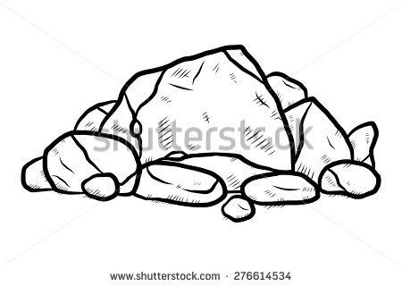 Boulder clipart pile rubble. Pebble free download best