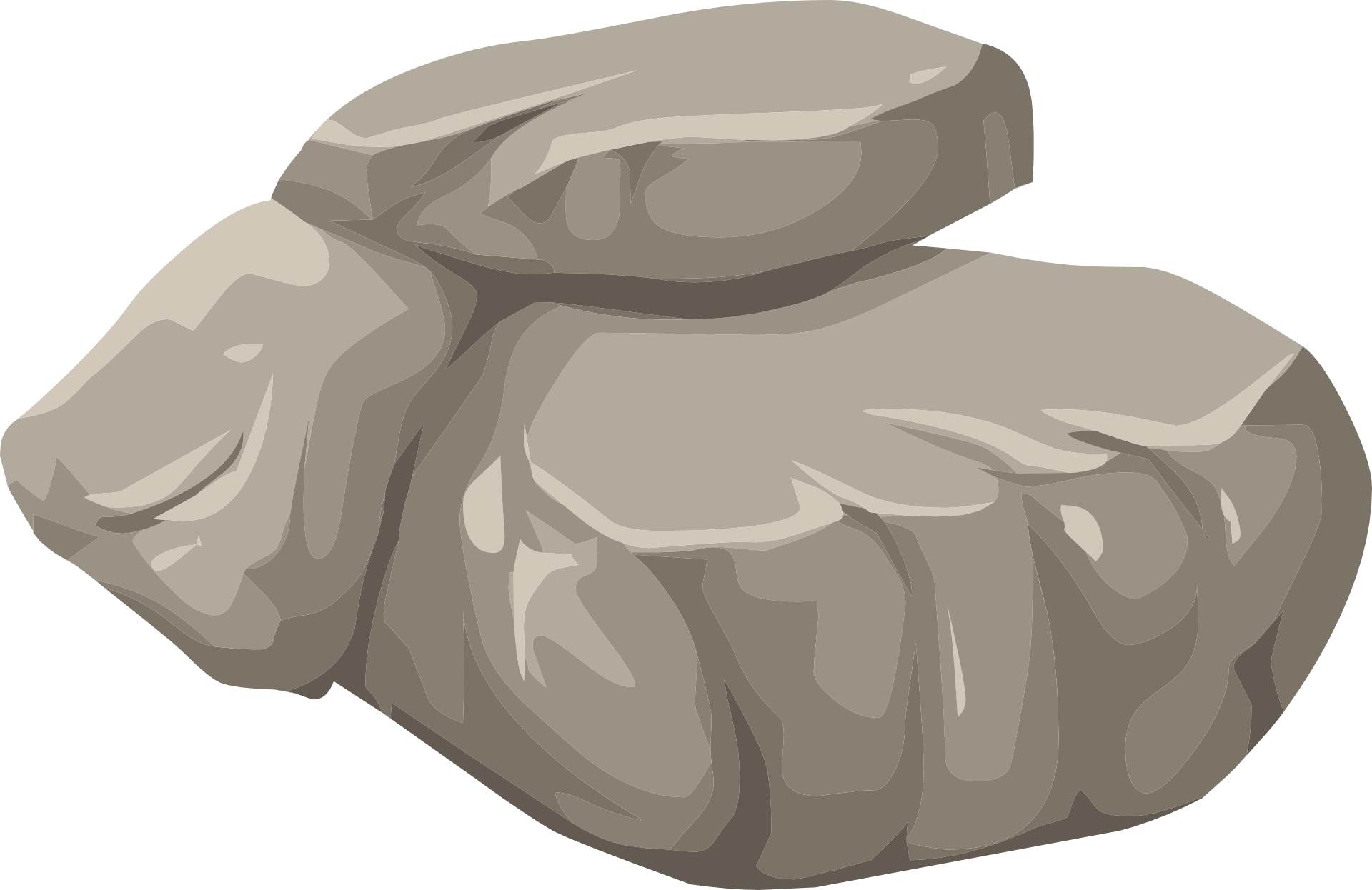 Boulder clipart round stone. Rock nature granite drawing