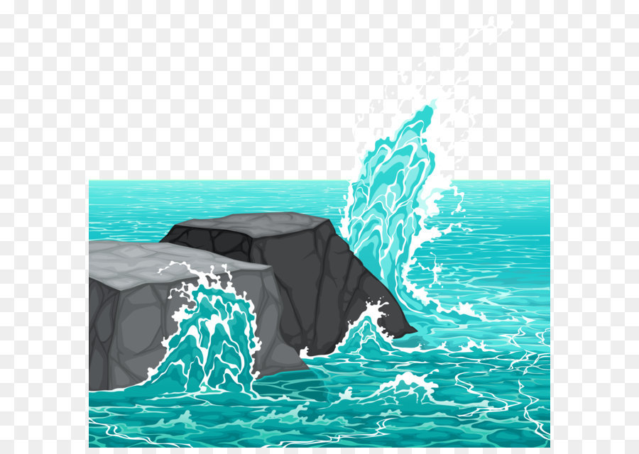 Boulder clipart sea rock. Wave clip art rocks