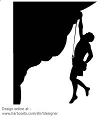 Rock climbing mountain sports. Boulder clipart silhouette