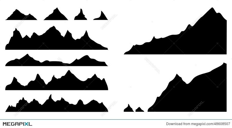 Mountains silhouettes illustration megapixl. Boulder clipart silhouette