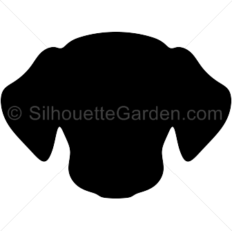 Dog silhouette clip art. Beagle clipart head