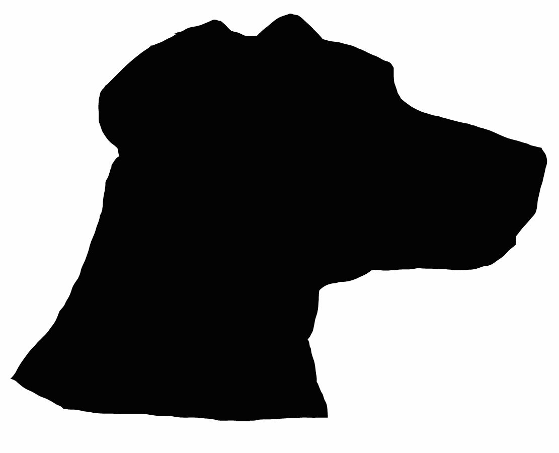 Boulder clipart silhouette. Size dog wall decal