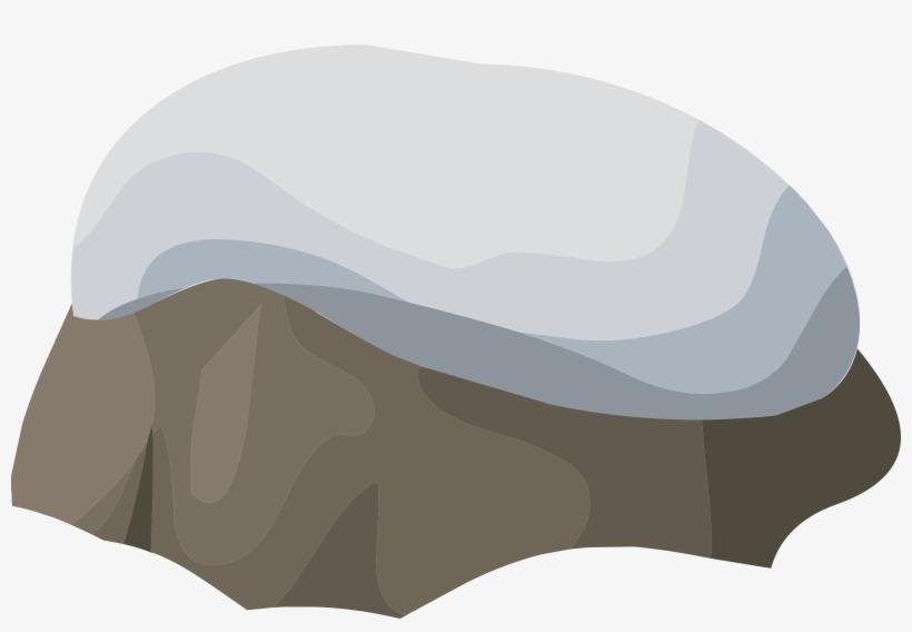 Boulder clipart small rock. Snowy transparent
