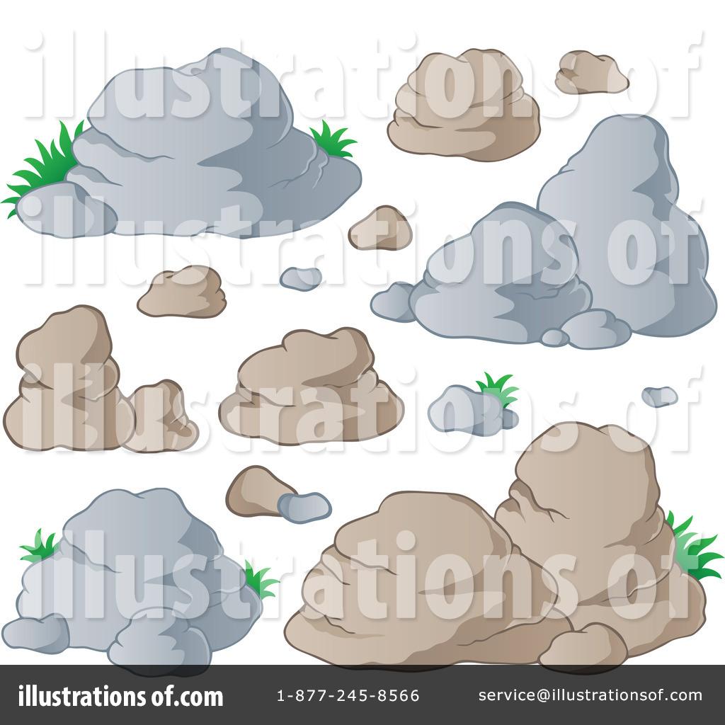 Stones illustration by visekart. Boulder clipart stepping stone
