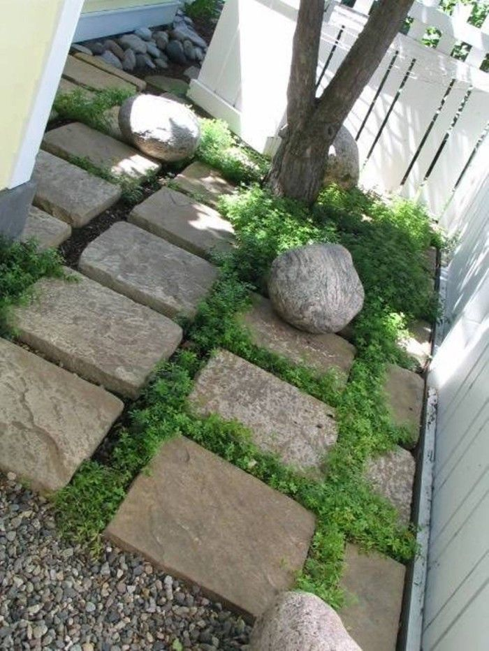 Boulder clipart stepping stone. Square beautiful garden stones