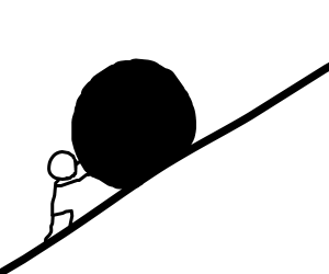 Boulder clipart uphill. Step go outside and