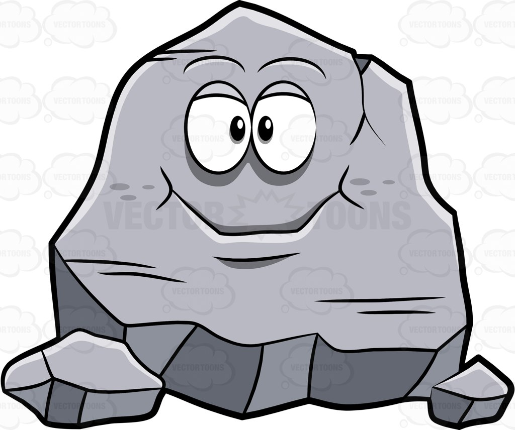 Boulder clipart uphill. Cartoon stone pencil and