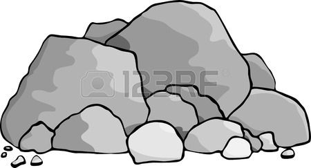 Boulder clipart vector. Stock painting ideas rock
