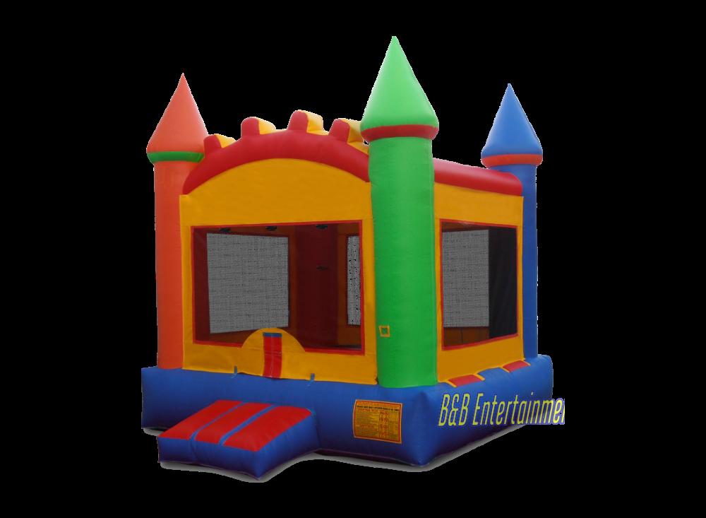 Bounce house png. Multi color castle x