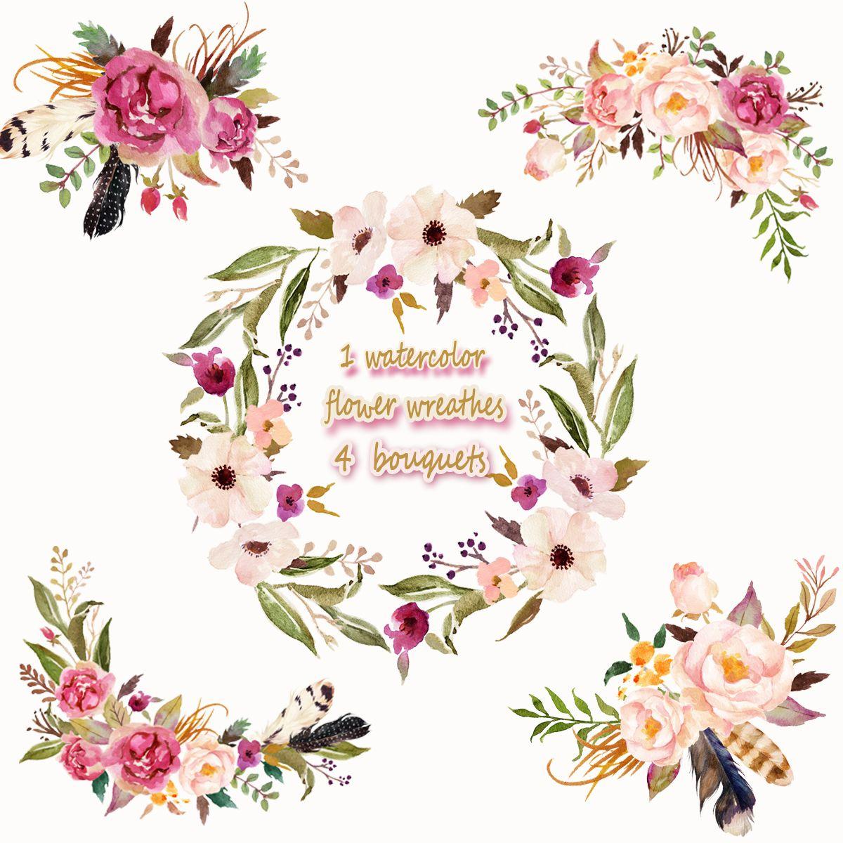 bouquet clipart 4 flower #34369318