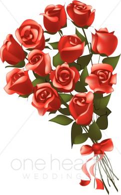 Bouquet clipart. Dozen roses clip art