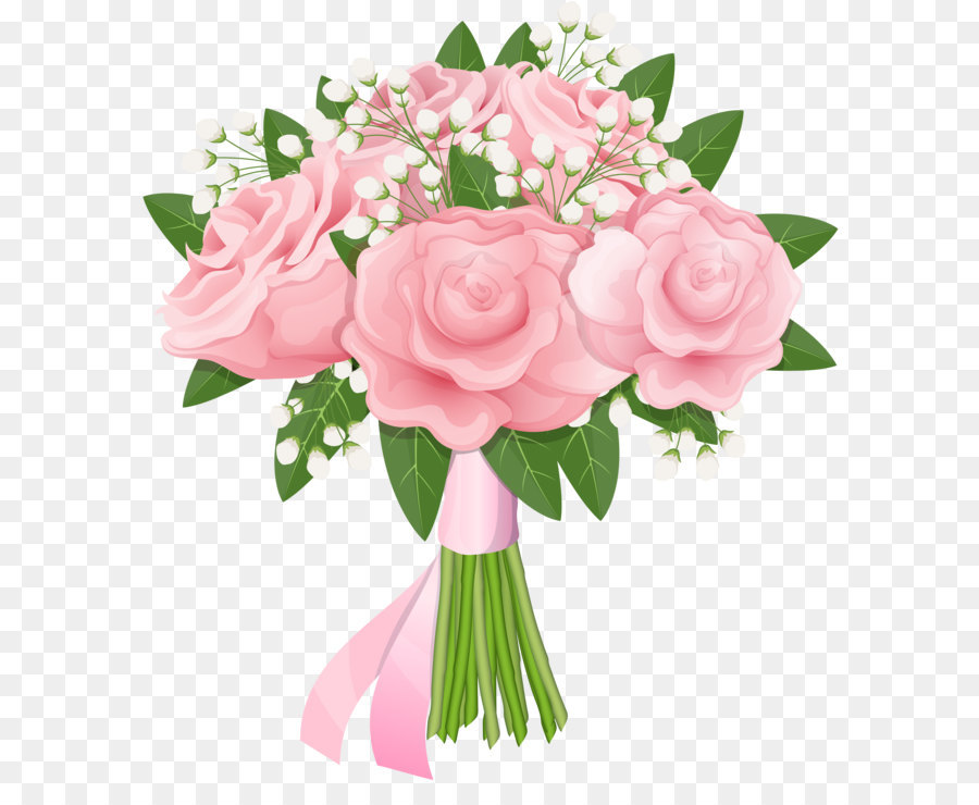 Bouquet clipart. Flower rose pink clip