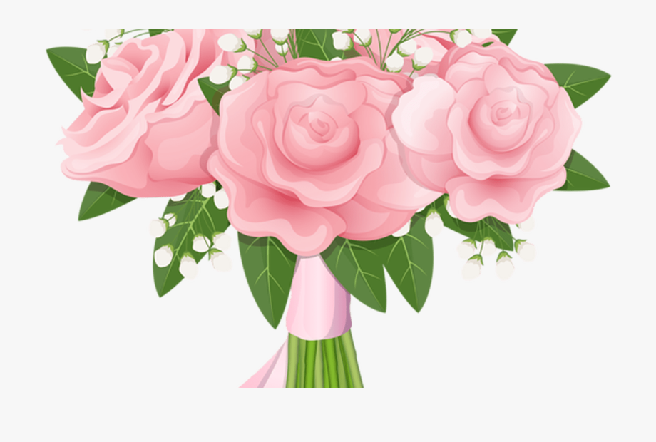 Rose clipart bunch. Realistic flower bouquet svg