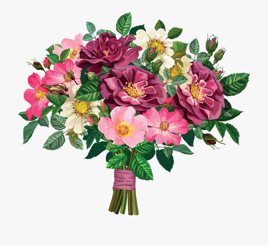 Flower transparent background png. Bouquet clipart