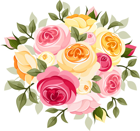 Free flower cliparts download. Bouquet clipart