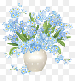 Flowers vase png and. Bouquet clipart blue