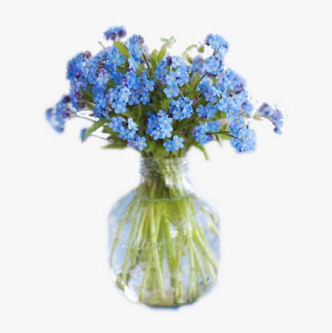 Bouquet clipart blue. Glass flower royal flowers