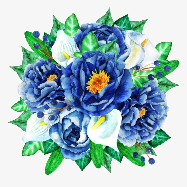 Bouquet clipart blue. Flower flowers plant png