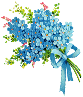 . Bouquet clipart blue