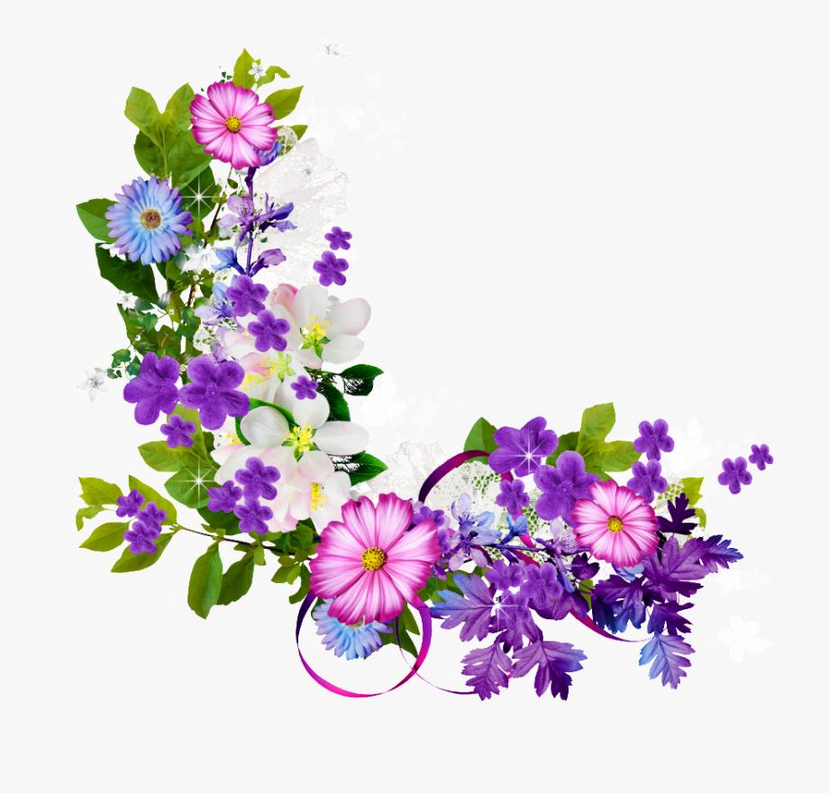 Bouquet clipart border. Of flowers transprent hd