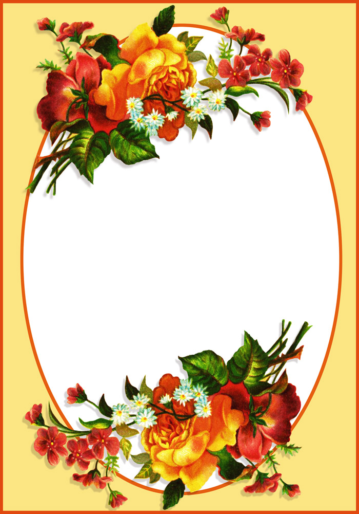 Bouquet clipart border. Flower borders and frames