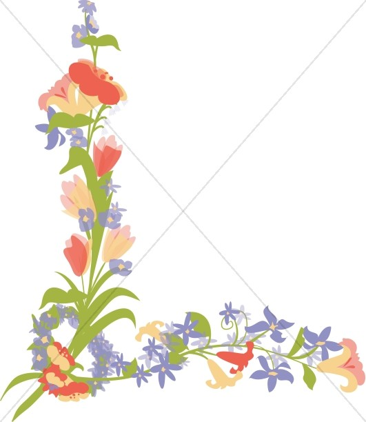 Bouquet clipart border. Flower borders sharefaith page