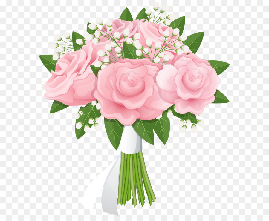 Flower rose pink free. Bouquet clipart bouqet