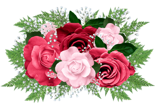 Pink and red gallery. Bouquet clipart bouquet rose