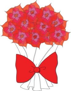 Free flowers clip art. Bouquet clipart bow
