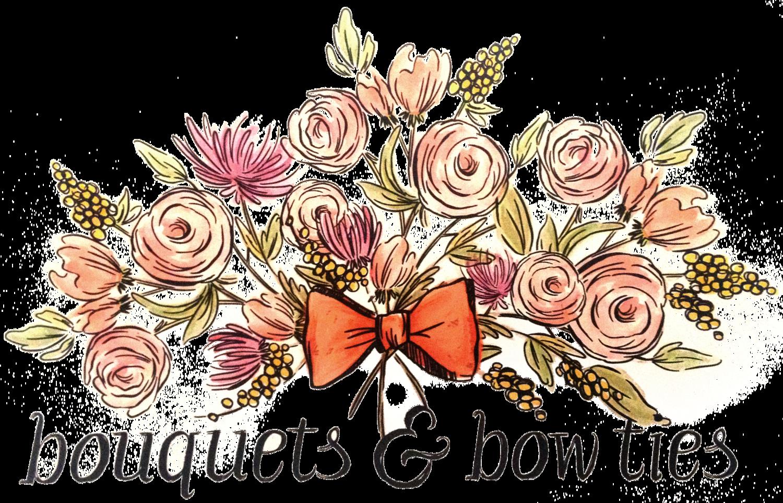 Bouquet clipart bow. Bouquets ties