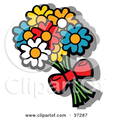 Flower clip art panda. Bouquet clipart bow