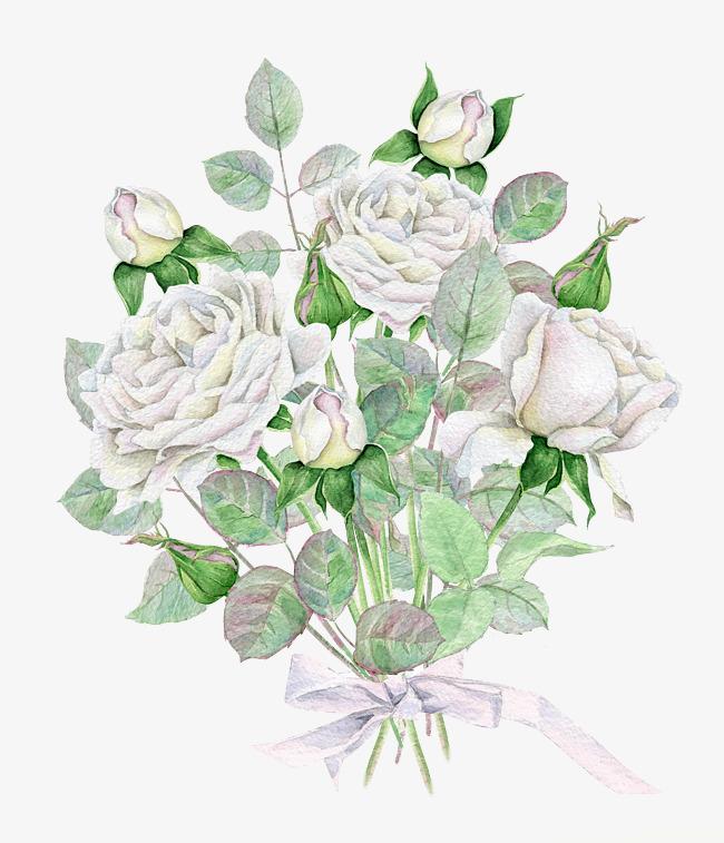 Bouquet clipart bow. Rose tie ribbon white