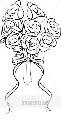 Wedding. Bouquet clipart bridal bouquet