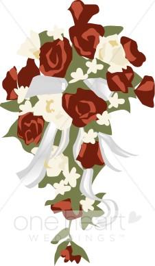 Roses flower. Bouquet clipart bridal bouquet