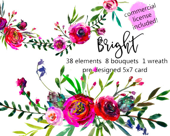 Bouquet clipart burgundy. Peonies roses watercolor floral
