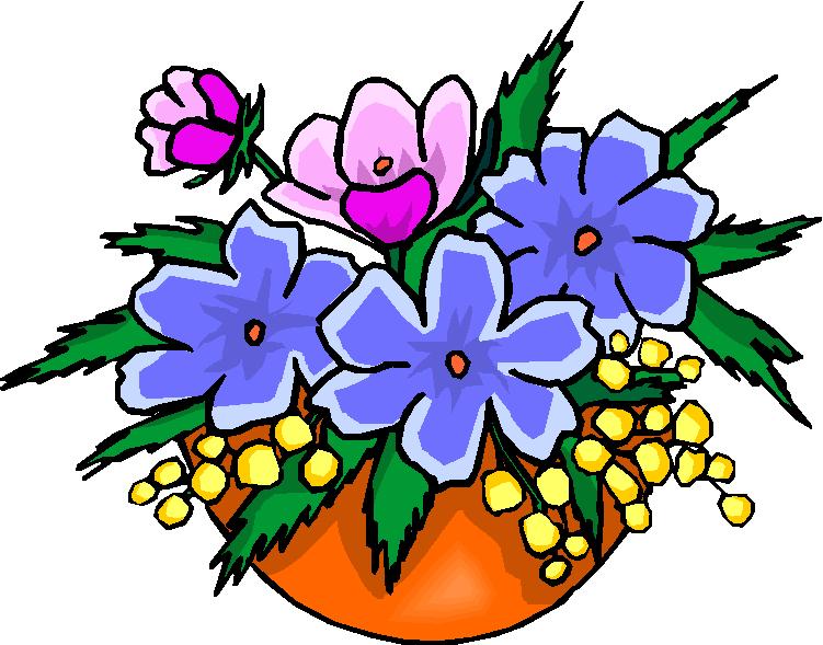 Vase clipart summer flower. Free cartoon bouquet of