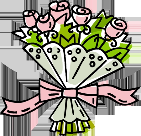 Bouquet clipart cartoon. Of flowers roses kongfanwen