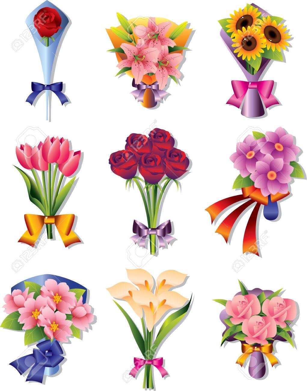 Of roses clip art. Bouquet clipart cartoon