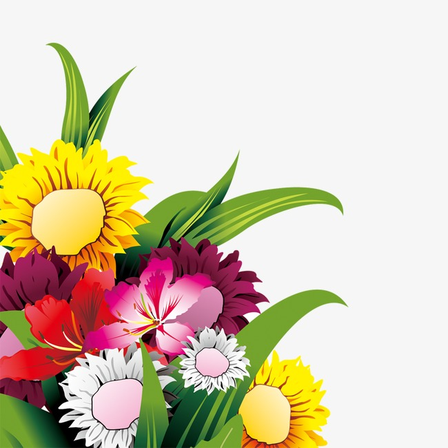 Flowers plant png image. Bouquet clipart cartoon